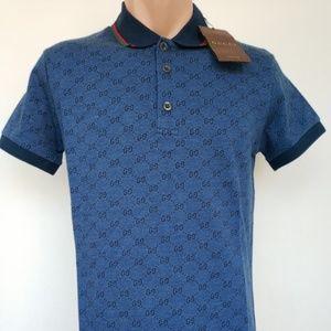 6facdce7d gucci Shirts | Polo T Shirt Tiger Stripe Blue Red | Poshmark